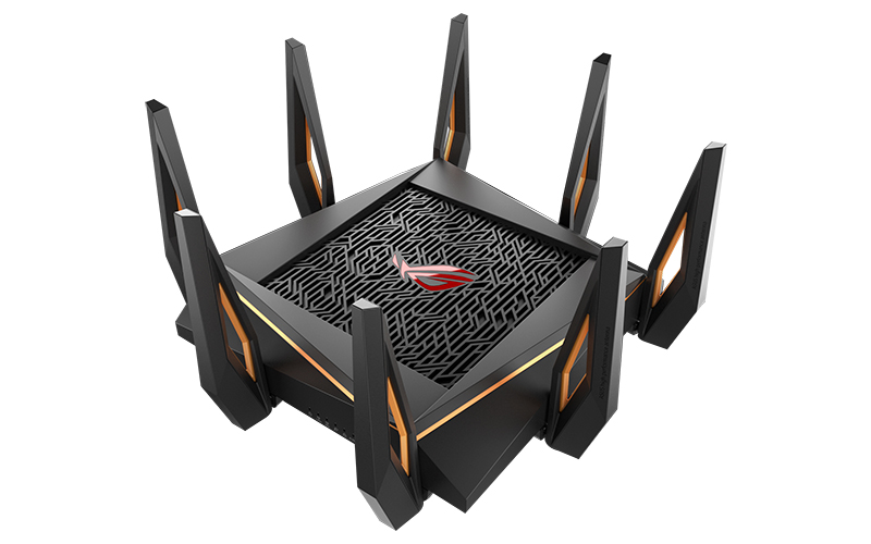 The ASUS ROG Rapture GT-AX11000 is a tri-band 802.11ax router with blazing fast speeds