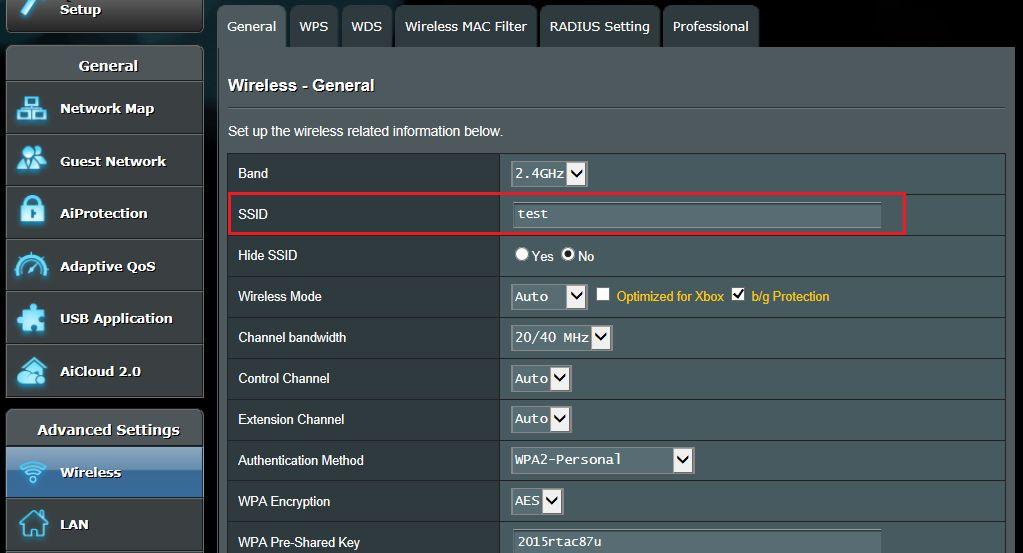 [无线网路] 如何更改我的无线区域网路名称(SSID)