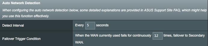 [WAN] 启用双 WAN 时如何设置自动网络检测?