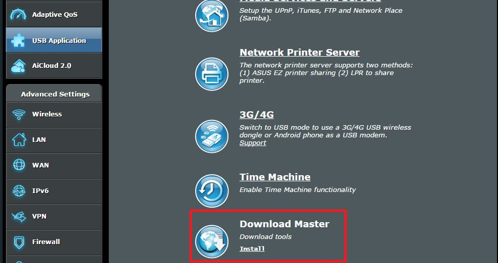 [USB 应用] 如何设定 Download Master?