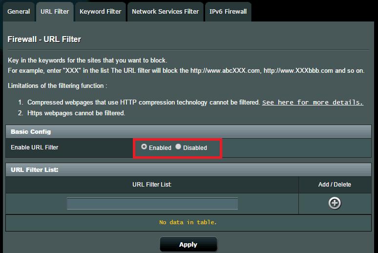 [防火墙] 如何设定网址过滤器?