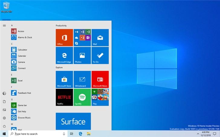 微软Windows 10 20H1预览版18950官方ISO镜像下载