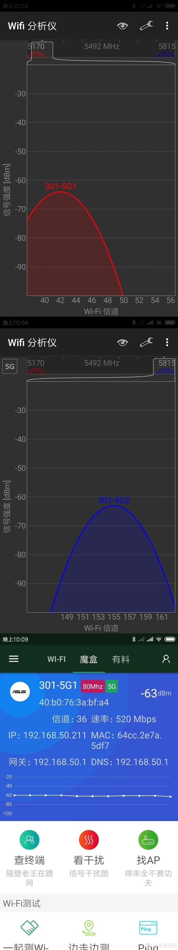 厕所C点信号测试情况