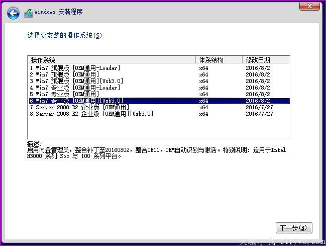 [无约而来]Win7 08R2 X64 Nin1 201608A(集成usb3.0和nvme驱动)