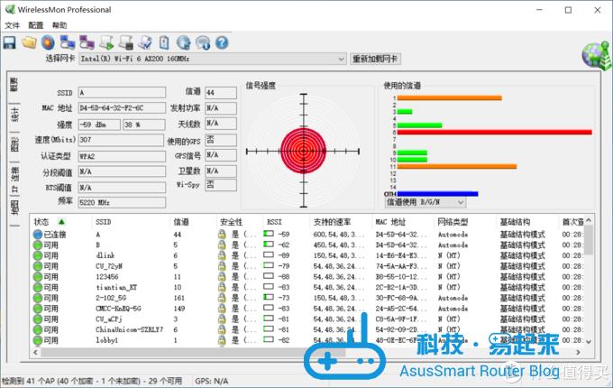 位置3 强度-59dBm 速度307Mbps