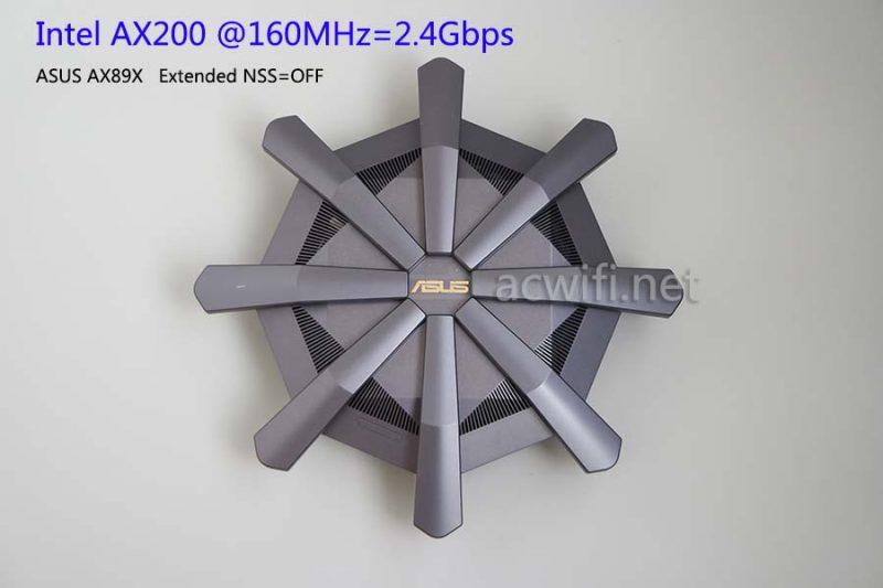 华硕AX89X与AX200终于有160MHz了,WIFI6与WIFI5的速度对比测试