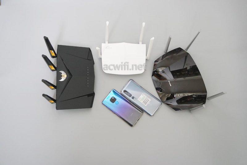 小米10手机与华为手机WIFIi测速对比